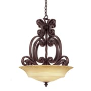 Kalco Hamilton 3 Light Chandelier; Copper Claret