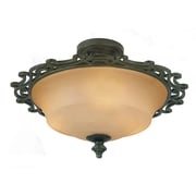 Kalco Hamilton 2 Light Semi Flush Mount; Tawny Port