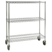 Rubbermaid Commercial Products 48.3'' H 3 Shelf Shelving Unit Mobile