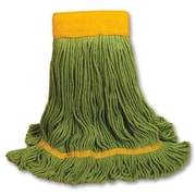 Unisan EchoMop Looped-End Large Mop Head in Green (Set of 14)