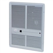 TPI Double Pole 6,826 BTU Wall Insert Electric Fan Heater with Summer Fan Switch; Ivory