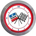Neonetics 15'' Mopar Checkered Flag Wall Clock