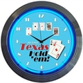 Neonetics 15'' Poker Texas Hold 'Em Wall Clock