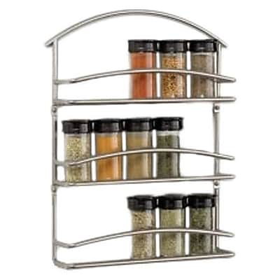 Spectrum Diversified Euro Wall-Mounted Spice Rack in