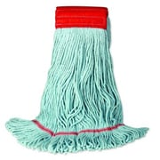 Unisan EchoMop Looped-End Large Mop Head in Blue (Set of 14)