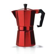 Primula Stove Top Aluminum 6-Cup Espresso Maker; Red