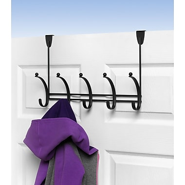Spectrum Diversified Voy 5-Hook Rack; Black