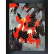Tori Home Abstract by Pol Ledent Framed Hand Painted Oil on Canvas