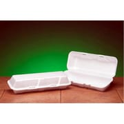 Genpak Foam Hinged Hoagie Extra Large Container in White