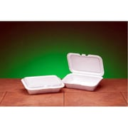 Genpak Foam Hinged Shallow Small Container in White
