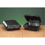Genpak Snap-It Foam Hinged Carryout Medium Container in Black