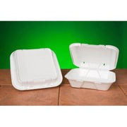 Genpak Snap-It Vented Foam Hinged Container in White