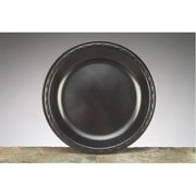 Genpak 10.25'' Elite Laminated Foam Round Plates in Black