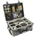 Pelican Products Equipment Case with Foam: 22'' x 17.94'' x 10.44''; Black