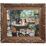 Tori Home La Grenouillere (The Frog Pond) by Renoir Framed Hand Painted Oil on Canvas