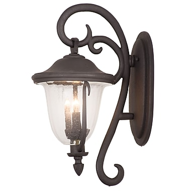 Kalco Santa Barbara 4-Light Outdoor Wall Lantern; Burnished Bronze
