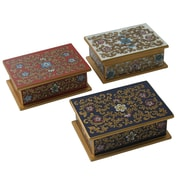 Novica Asunta Pelaez Painted Glass Box (Set of 3)