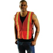 OccuNomix Large Orange Mesh Safety Vest With 1 3/8'' 2-Tone 3M  Scotchlite  Reflective Tape