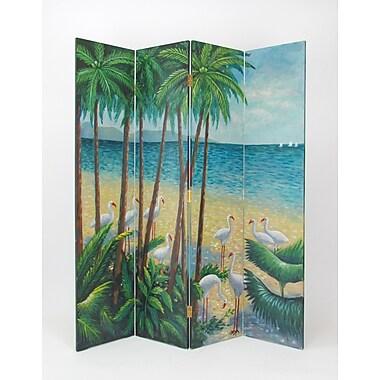 Wayborn 76'' x 84'' Beach 4 Panel Room Divider