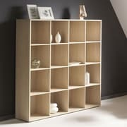 Bestar Clic Furniture 55.46'' Bookcase; Essential Oak Light