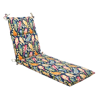 Pillow Perfect Ash Hill Outdoor Chaise Lounge Cushion; Blue / Green / Orange / Red WYF078277040490