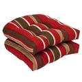 Pillow Perfect Wicker Chair Cushion; Monserrat Sangria