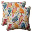 Pillow Perfect Ash Hill Corded Throw Pillow (Set of 2); White / Orange / Green / Blue