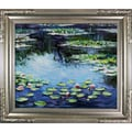 Tori Home Water Lilies by Monet Framed Hand Painted Oil on Canvas