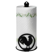 Spectrum Diversified Silhouettez Pantry Rooster Paper Towel Holder in Black