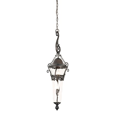 Kalco Anastasia 2 Light Outdoor Pendant; Textured Matte Black