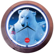 Neonetics Drinks 15'' Coca Cola Polar Bear Wall Clock
