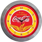Neonetics Drinks 15'' Coca Cola Wings Wall Clock
