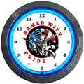 Neonetics 15'' Armed with Pride Firearms Wall Clock