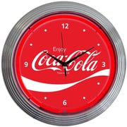 Neonetics Drinks 15'' Coca Cola Wave Wall Clock