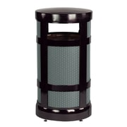Rubbermaid Commercial Products Architek  17 Gallon Radius Top Waste Receptacle; Black/Anthracite