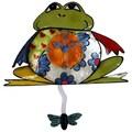 River City Clocks Metal Frog Clock with Fly Pendulum