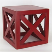 Wayborn Hunter End Table; Red