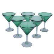 Novica Javier and Efren Vegetation Martini Glass (Set of 6)
