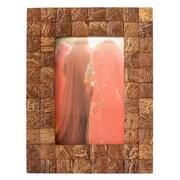 Novica Kamal Artisan Natures Muse Coconut Shell Photo Frame