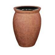 Rubbermaid Commercial Products 15-Gal Pescara Open Top Receptacle; Weathered Terra Cotta