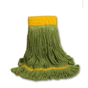 Unisan EchoMop Looped-End Medium Mop Head in Green (Set of 13)