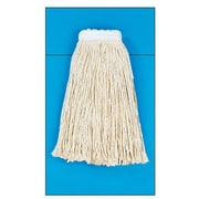 Unisan Cotton Fiber Cut-End Mop Head with Value Standard Head in White (Set of 16)