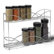 Spectrum Diversified Countertop 2-Tier Spice Rack; Chrome