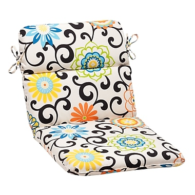 Pillow Perfect Pom Pom Outdoor Chair Cushion