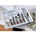 Rubbermaid Adjustable Cutlery Tray and Drawer Organizer in White