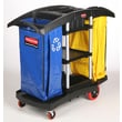 Rubbermaid Commercial Products Bi-Bag Waste-Collection 44'' Cleaning Cart