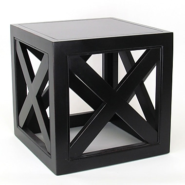 Wayborn Hunter End Table; Antique Black