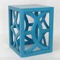 Wayborn Charleston End Table; Teal / Blue