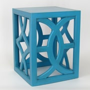 Wayborn Charleston End Table; Teal / Blue