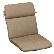 Pillow Perfect Outdoor Sunbrella Lounge Chair Cushion; Tan Textured Solid